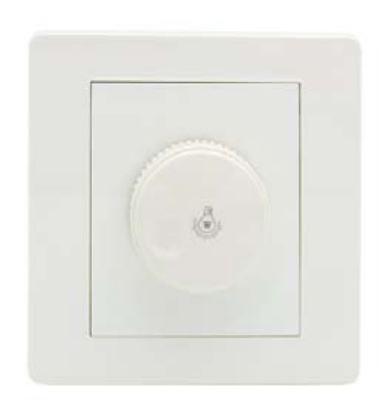 Rezistorinis šviesos reguliatorius skirtas pritemdyti kaitrines, halogenines arba dimeriuojamas LED lemputes/šviestuvus.  Galia iki 300W