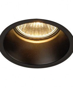 50W juodas apvalus įleidžiamas LED šviestuvas SLV HORN QPAR511