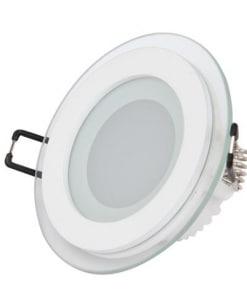 Apvalus įmontuojamas šviestuvas HOROZ su maitinimo šaltiniu 6W-15W