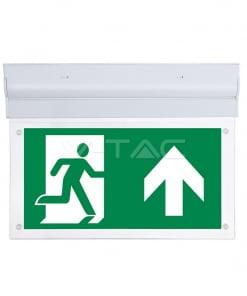 2W 16SMD LED'ų evakuacinis šviestuvas V-TAC, montuojamas prie sienos / lubų, IP20, 6000K(šaltai balta)