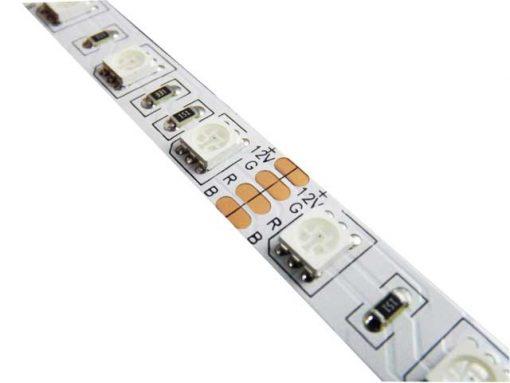 Nehermetiška LED juosta 12W/m RGB 24V DC
