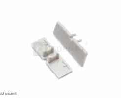 LED juostos profilio BACK10 užbaigimo elementas su skyle, pilkas