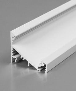 1m LED juostos profilio CORNER27, baltas