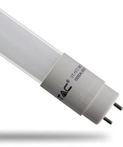 22W LED lempa T8 V-TAC 150cm, stikliniu matiniu dangteliu (Šviesos spalva: 4500K).Reguliuojama švietimo kryptis