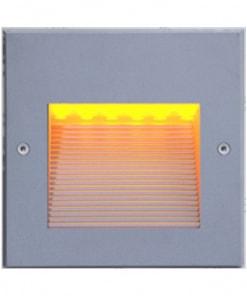 3W kvadratinis LED sieninis lauko šviestuvas laiptams ar grindiniui