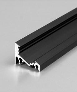 1m LED juostos profilio CORNER10, juodai anoduotas