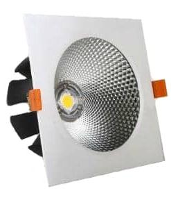 20W kvadratinis įleidžiamas LED šviestuvas šviečiantis dienos šviesos spalva