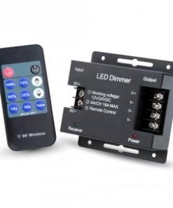 LED šviesos stiprumo valdiklis su radio bangų valdomu pulteliu
