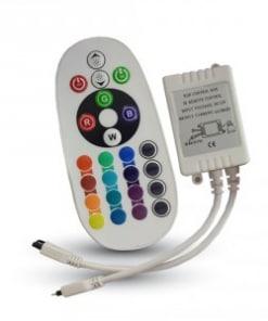 RGB juostos valdiklis 6A (su 24 mygtukų  apvaliu nuotoliniu pulteliu)