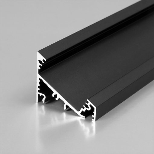 1m LED juostos profilio CORNER27, juodai anoduotas