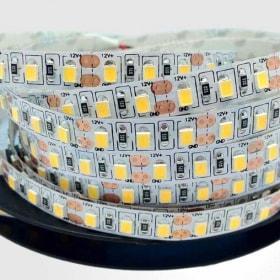12 W/m LED juosta LUXSONN, 2835, DC24, 120 LED/m, (3000K) šiltai balta, IP67