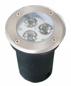 3W LED grindinio šviestuvas, apvalus, (3000K) šiltai balta