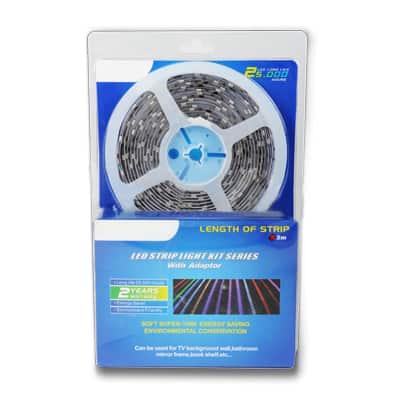 10,8 W/m LED juosta, 5050, 60 LED/m, atspari drėgmei (IP65), RGB
