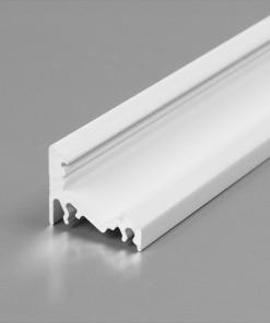 1m LED juostos profilio CORNER10, baltas