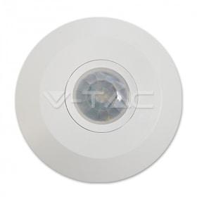 IR judesio daviklis, montuojamas ant lubų, plokščias , 360°, baltas