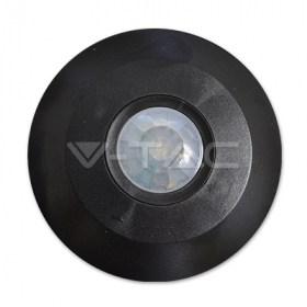 IR judesio daviklis, montuojamas ant lubų, plokščias, 360°, juodas