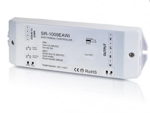 LED RGBW juostų valdiklis-RF ir WiFi imtuvas, 4-ių kanalų, SR-1009EAWi