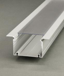 1m LED juostos profilis PHIL įleidžiamas, baltas
