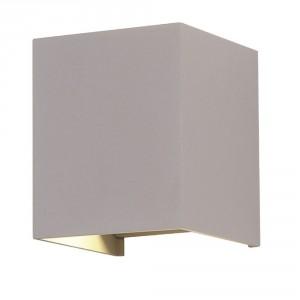 6W kvadratinis sieninis šviestuvas V-TAC su reguliuojamu šviesos kampu (Juoda