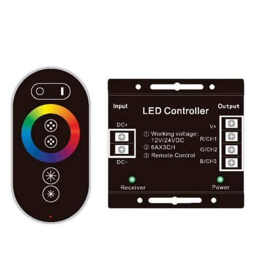 216W RGB juostos valdiklis 6Ax3 (liečiamas)