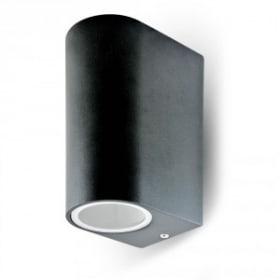 Dviejų krypčių sieninis lauko šviestuvas fasadui su GU10 lemptės lizdu
