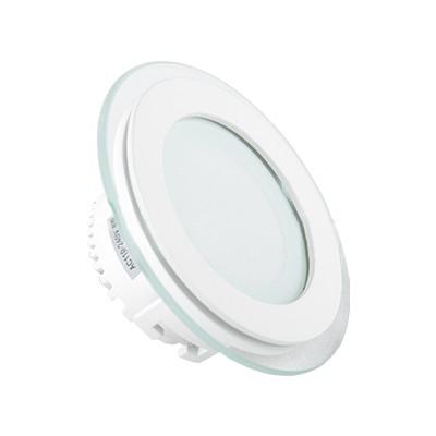 6W apvali įleidžiama stiklinė LED panelė V-TAC
