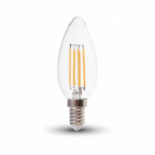 4W LED lemputė COG E14, forma žvakės, (2700K)