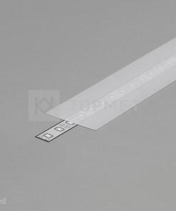 1m LED juostos profilio dangtelis A9, matinis
