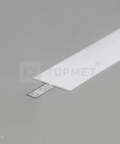 1m LED juostos profilio dangtelis A9, baltas