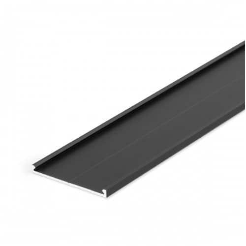 Aliumininis profilio dangtelis TOPMET VARIO30-09, juodai anoduotas 1m