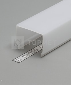 1m LED juostos profilio dangtelis E7 KLIK, baltas
