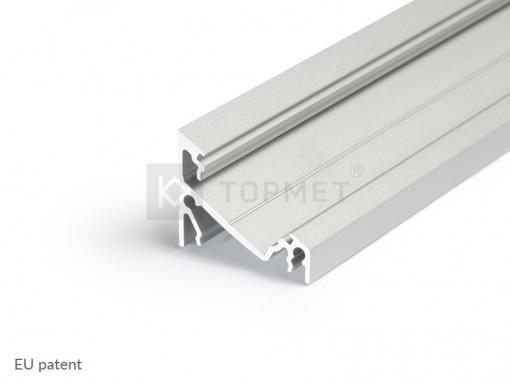 LED juostos profilis TOPMET CORNER14, anoduotas 1m