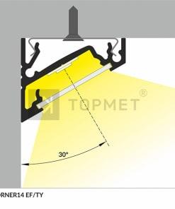LED juostos profilis TOPMET CORNER14