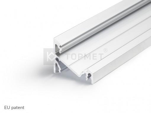 LED juostos profilis TOPMET CORNER14, neanoduotas aliuminis