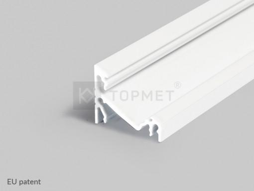 LED juostos profilis TOPMET CORNER14, baltas 1m
