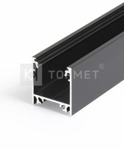 LED juostos profilis TOPMET LINEA20, juodas anoduotas -1m