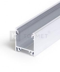 LED juostos profilis TOPMET LINEA20, neanoduotas aliuminis -1m