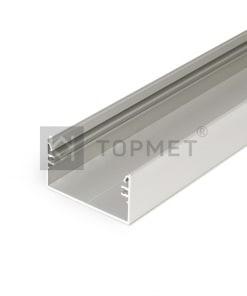 LED juostos profilis Topmet LOWI, neanoduotas aliuminis