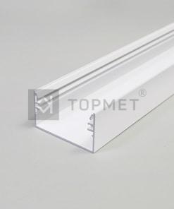 1m LED juostos profilio LOWI, baltas