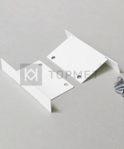LED juostos profilio PHIL užbaigimo elementas, baltas