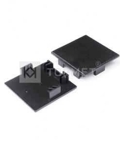LED juostos profilio PHIL53 užbaigimo elementas, juodas