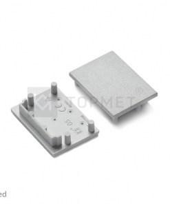 LED juostos profilio VARIO30-05 užbaigimo elementas pilka