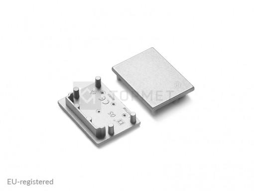 LED juostos profilio VARIO30-05 užbaigimo elementas sidabro spalva
