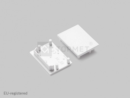 LED juostos profilio VARIO30-05 užbaigimo elementas baltas