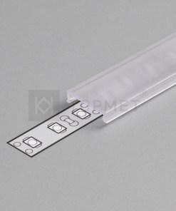 1m LED juostos profilio dangtelis C (skaidrus) KLIK