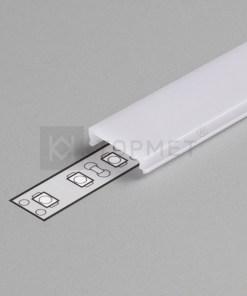 1m LED juostos profilio dangtelis C (matinis) KLIK