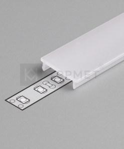 1m LED juostos profilio dangtelis F (baltas) KLIK