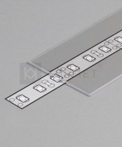 LED juostos profilio dangtelis G, skaidrus 1m