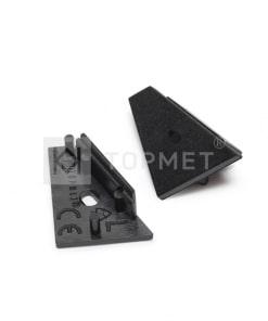 LED juostos profilio CORNER14 užbaigimo elementas su skyle, juodas