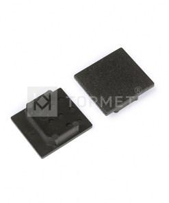 LED juostos profilio LINEA20 užbaigimo elementas, juodas